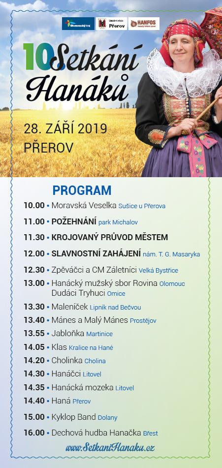 Setkání Hanáků 2019 program